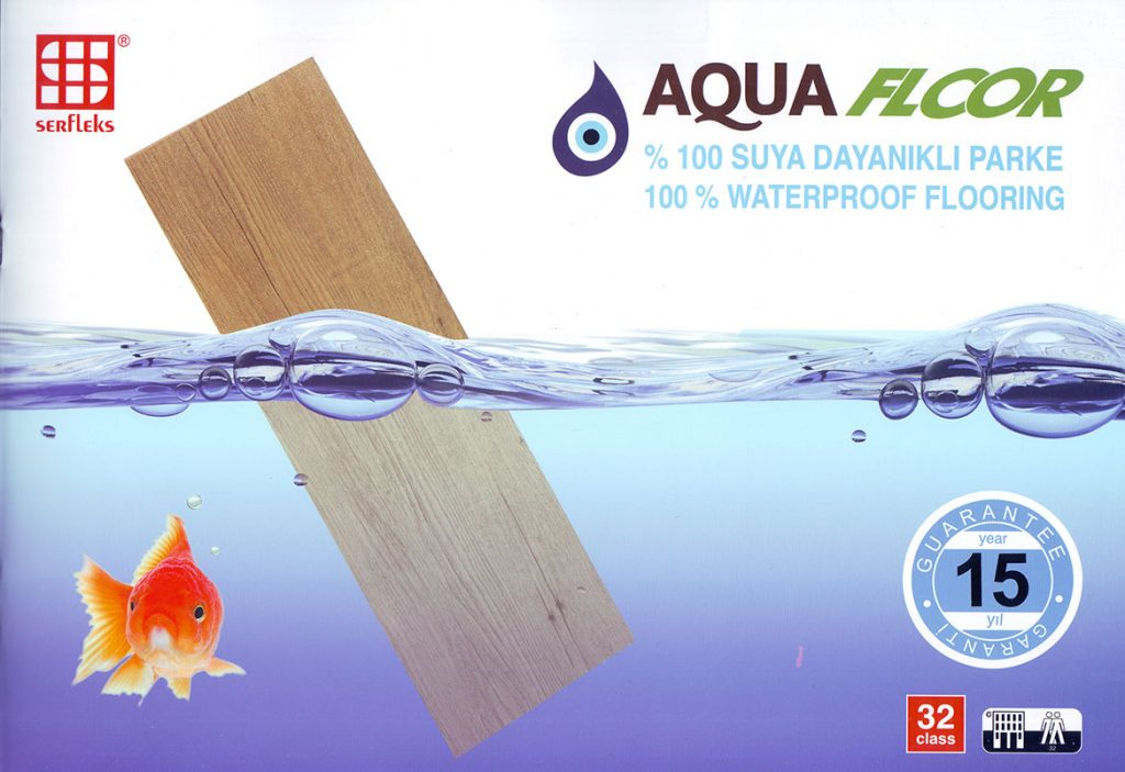 Aquafloor %100 Suya dayanıklı Parke